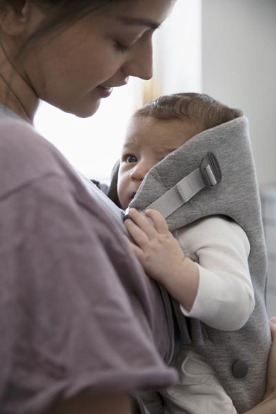 BabyBjorn μάρσιπος Mini 3D Jersey, Light grey