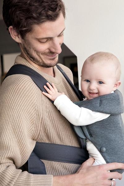 BabyBjorn μάρσιπος Mini 3D Jersey, Dark Grey