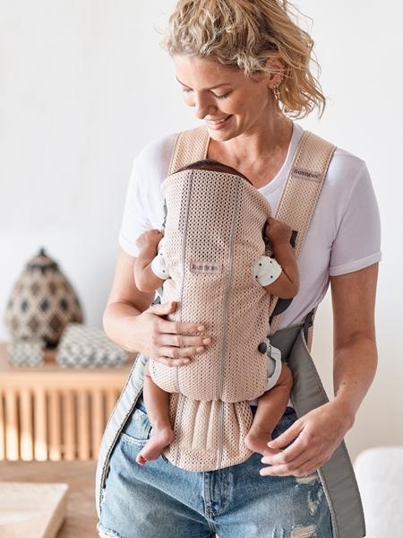 BabyBjorn μάρσιπος Mini 3D Mesh, Pearly Pink