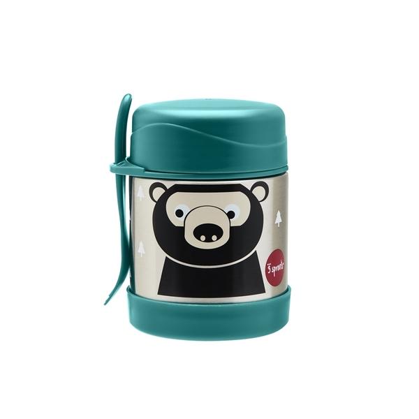 3 Sprouts Ανοξείδωτο Δοχείο Φαγητού - Bear