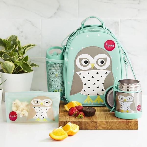 3 Sprouts Ανοξείδωτο Δοχείο Φαγητού - Owl