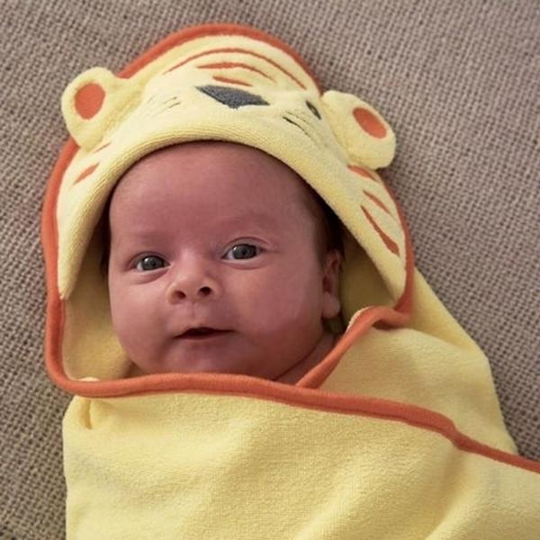 "Gro Swaddledry Πετσέτα αγκαλιάς με κουκούλα ""Tommy the tiger"""