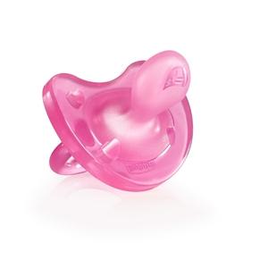 Chicco Πιπίλα Physio Soft, Όλο σιλικόνη Ροζ, 6-16m 1τμχ