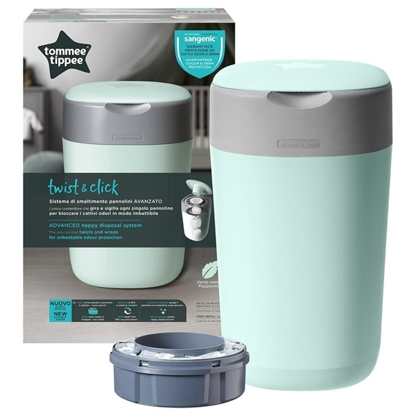 Tommee Tippee Κάδος Απόρριψης Πάνας Twist & Click, Πράσινος