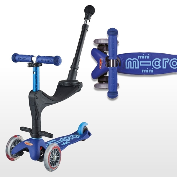Micro Mini 3in1 Deluxe Plus - Παιδικό Πατίνι Blue