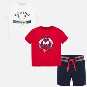 Mayoral Σετ Μπλούζες Σχέδιο Και Σόρτς baby Αγόρι, Ιβίσκος