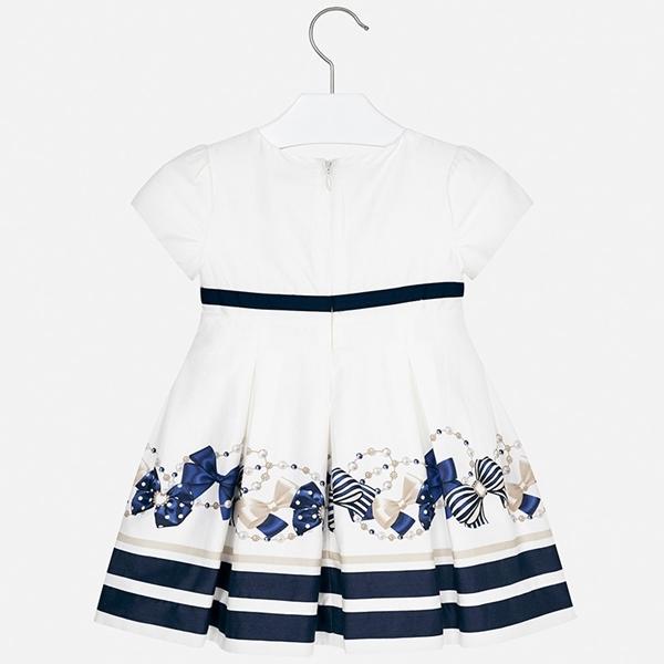 Mayoral Φόρεμα Φιόγκοι Ρίγες Κορίτσι, Ναυτικό Μπλέ