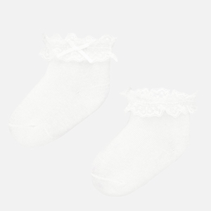 Mayoral Καλτσάκια Aμπιγιέ Νεογέννητο Kορίτσι, Λευκό