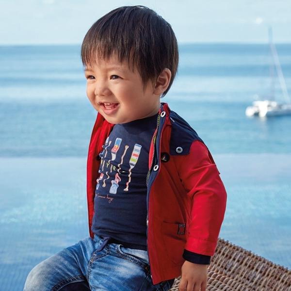 Mayoral Μπουφάν Αντιανεμικό Ναυτικό Baby Αγόρι, Ιβίσκος