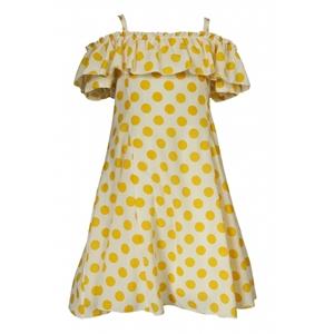 M&B Fashion Φόρεμα Πουά με Βολάν