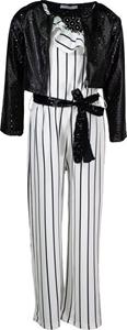 Εβίτα Fashion Σετ Ολόσωμη Φόρμα Εκρού Με Μπουφάν Δερματίνη
