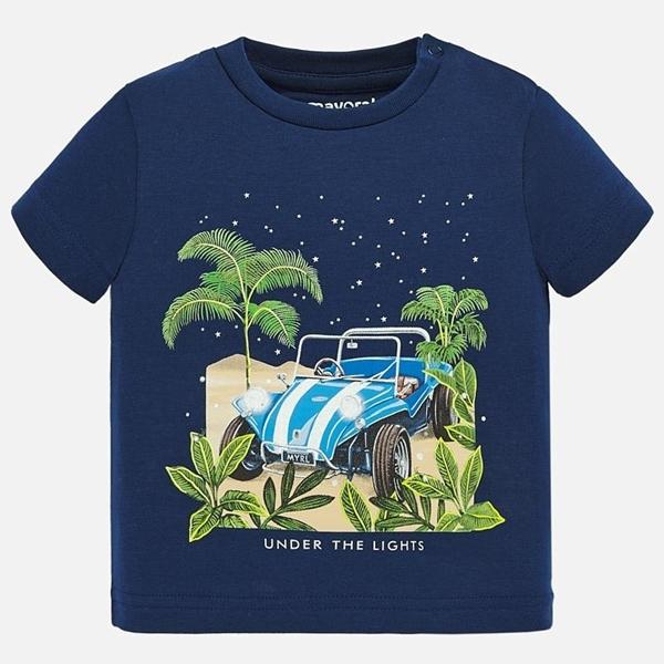 Mayoral Μπλούζα Κοντομάνικη Αυτοκίνητο Baby Αγόρι