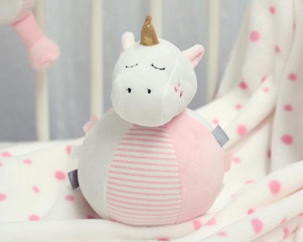 Kiokids Μπάλα Δραστηριοτήτων με Κουδουνίστρα Unicorn