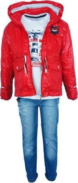 Hashtag Σετ Παντελόνι 3 τμχ, Κόκκινο Jacket