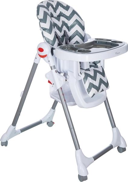 Baby Adventure Κάθισμα Φαγητού Cookie Grey Stripes