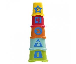 Chicco Εκπαιδευτικό Παιχνίδι Πυραμίδα με Κυβάκια 2 σε 1