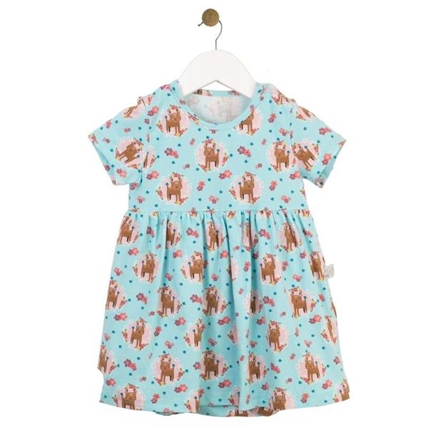 Καρφιτσωμένος Γάτος - Βρεφικό Φόρεμα με Ενσωματωμένο Κορμάκι & Μοτίβο Ελαφάκια