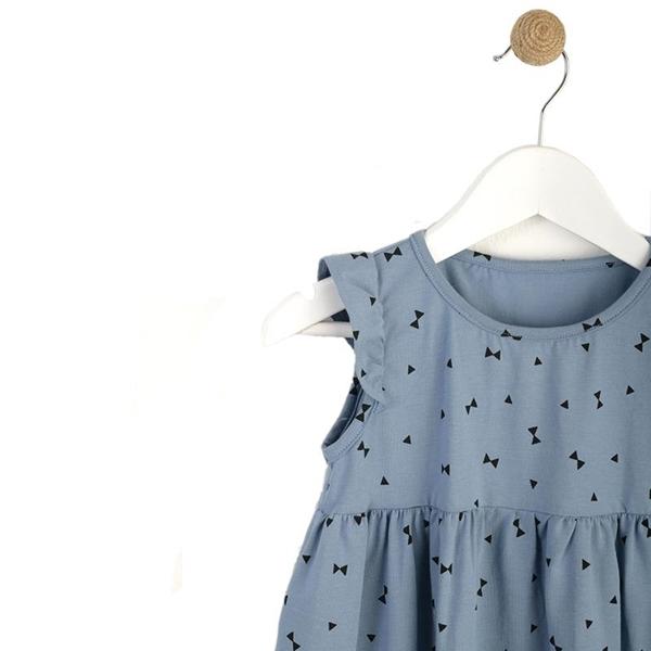 Καρφιτσωμένος Γάτος - Παιδικό Φόρεμα με Μοτίβο Γεωμετρικά