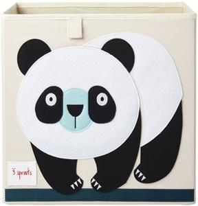 3 sprouts Καλάθι Για Παιχνίδια Τετράγωνο - Panda