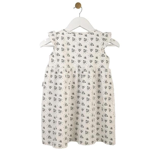 Καρφιτσωμένος Γάτος - Παιδικό Φόρεμα με Μοτίβο Διαμαντάκια