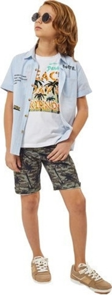 Hashtag Σετ Παντελόνι Παραλλαγής, Πουκάμισο Και Μπλούζα Για Αγόρι