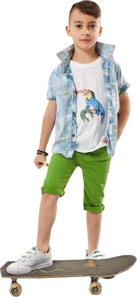 Hashtag Παιδικό 3 τμχ Παντελόνι, Πουκάμισο και Μπλούζα με Παπαγάλο