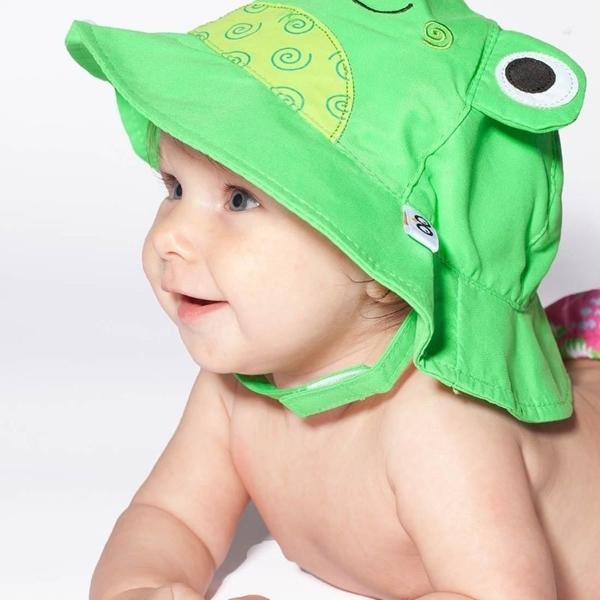 Zoocchini Αντηλιακό Καπέλο UPF50+ Βατραχάκι