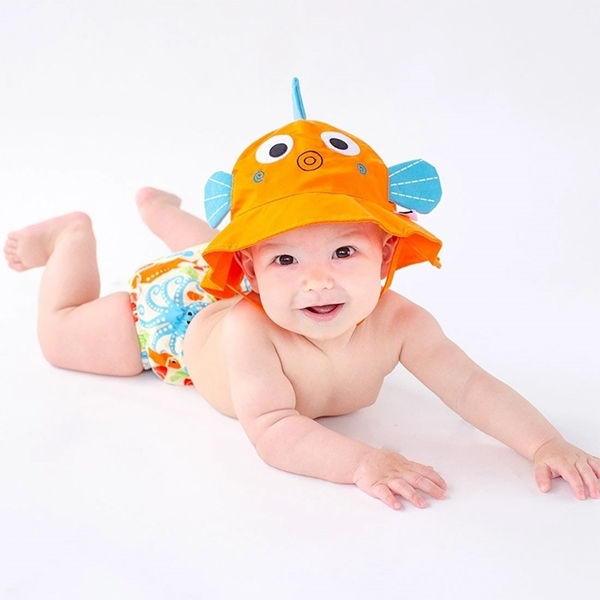 Zoocchini Σετ Μαγιό και Καπέλο UPF50+ Ψαράκι