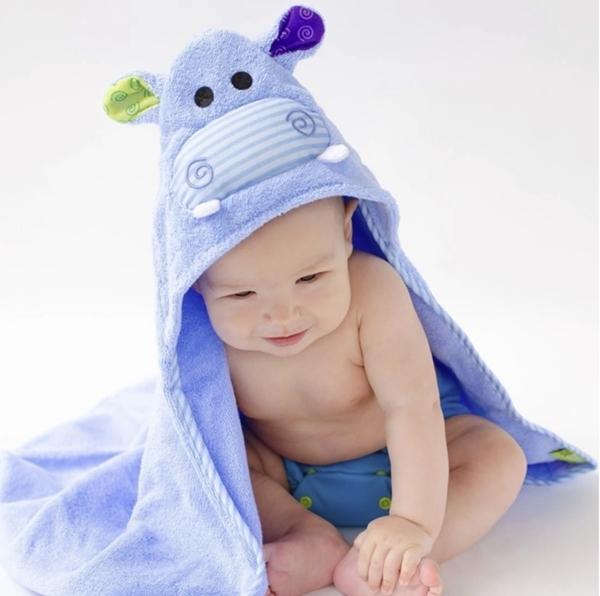 Zoocchini Βρεφική Πετσέτα Hippo