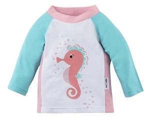 Zoocchini Αντιηλιακό Μπλουζάκι UPF50+ Seahorse