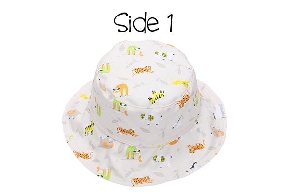 FlapJackKids Αντηλιακό Καπέλο Διπλής Όψης UPF 50+ Grey Zoo