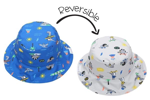 FlapJackKids Αντηλιακό Καπέλο Διπλής Όψης UPF 50+ Dino