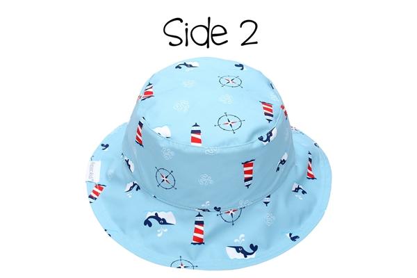 FlapJackKids Αντηλιακό Καπέλο Διπλής Όψης UPF 50+ Nautical