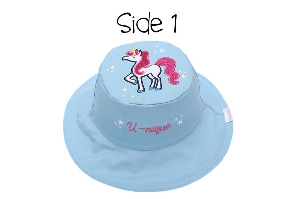 FlapJackKids Αντηλιακό Καπέλο Διπλής Όψης UPF 50+ –Μονόκερος(Cotton)