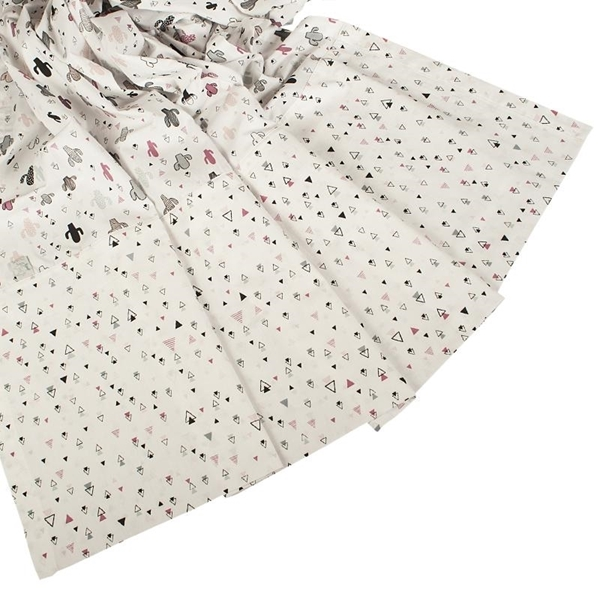 Καρφιτσωμένος Γάτος - Σετ σεντόνια κούνιας 3τμχ - Κάκτοι & Τρίγωνα