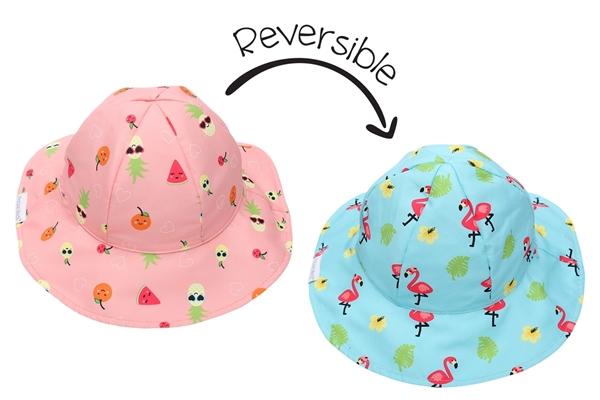 FlapJackKids Αντηλιακό Καπέλο Διπλής Όψης UPF 50+ –Φλαμίνγ