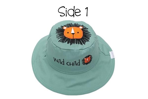 FlapJackKids Αντηλιακό Καπέλο Διπλής Όψης UPF 50+ – Λιονταράκι (Cotton)