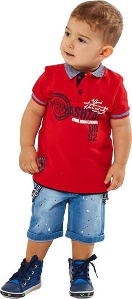 Hashtag Bebe Σετ Βερμούδα Για Αγόρι, Κόκκινο
