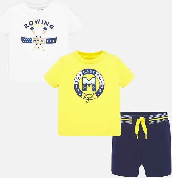 Mayoral Σετ Μπλούζες Σχέδιο Και Σόρτς baby Αγόρι, Ήλιος
