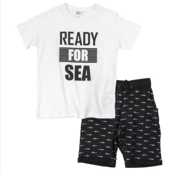 Funky Σετ Βερμούδα Αγόρι Ready For Sea