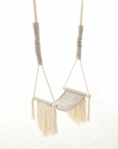 Picture of Cozydots Κούνια Boho Grey Fringe