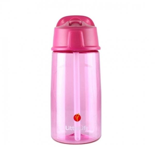 LittleLife Παγούρι 550ml με καλαμάκι Pοζ