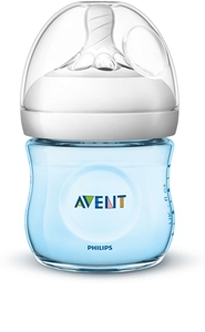 Philips Avent Πλαστικό Μπιμπερό Natural 125ml, Blue