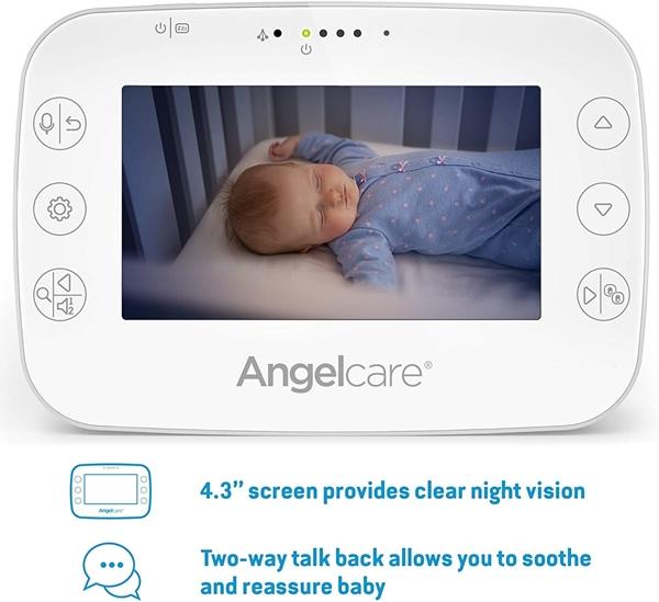 Angelcare Συσκευή Ανίχνευσης Αναπνοής & Ενδοεπικοινωνία  Με Κάμερα AC327