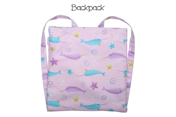 FlapJackKids Πετσέτα Παραλίας Backpack – Narwhal/Starfish