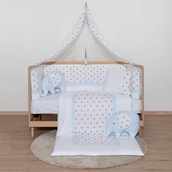 Abo Σετ Προίκας 9τμχ - Elephant Blue