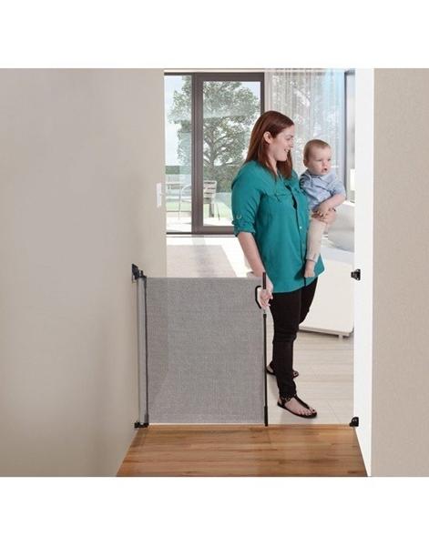 DreamBaby Αφαιρούμενη Πόρτα Ασφαλείας Retractable Gate Grey
