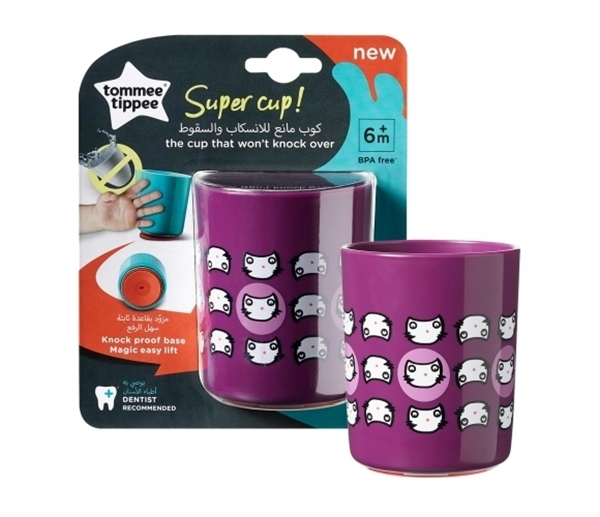 Tommee Tippee - No Knock Cup, 190ml Μωβ