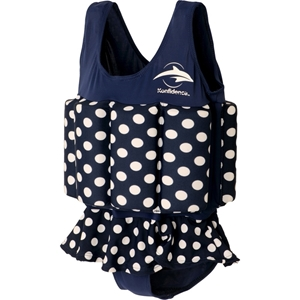 Konfidence Μαγιώ σωσίβιο Float Suit Navy Polka Dots 2-3 Ετών