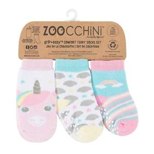 Zoocchini - Αντιολισθήτικά Καλτσάκια Grip + Easy Καλτσάκια Allie The Unicorn
